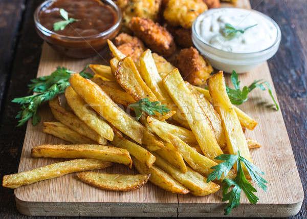 French fries Stock photo © badmanproduction