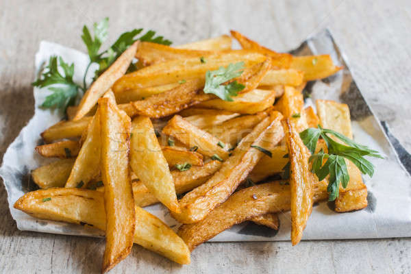 Prepared french fries Stock photo © badmanproduction