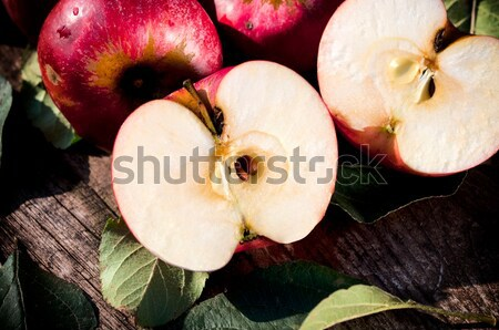 Stock photo: Sliced apple