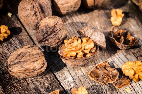 Shell mise au point sélective noix fruits santé Photo stock © badmanproduction