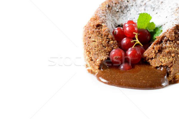 Lava cake isolated Stock photo © badmanproduction