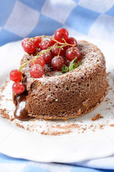 Sweet chocolate cake Stock photo © badmanproduction