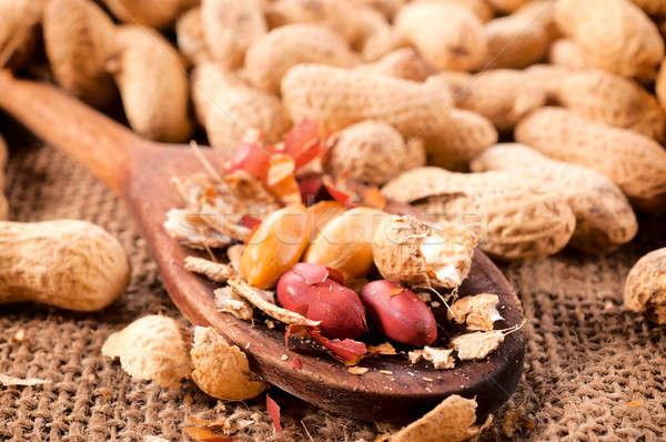 Сток-фото: арахис · ковш · текстуры · здоровья
