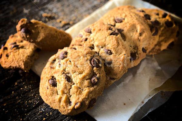 Chocolate chip cookies Stock photo © badmanproduction