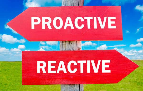 Proactivo manera elección estrategia cambio Foto stock © badmanproduction