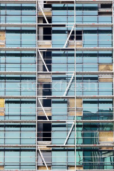 Windows and ladder  Stock photo © badmanproduction