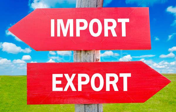 импортный экспорт выбора стратегия изменений Сток-фото © badmanproduction