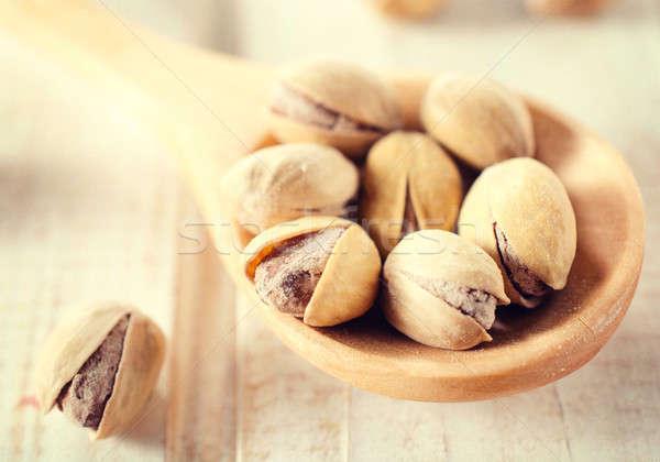 Mise au point sélective pistache milieu santé groupe Photo stock © badmanproduction
