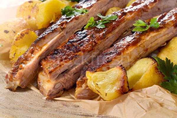 Rundvlees gebakken Stockfoto © badmanproduction