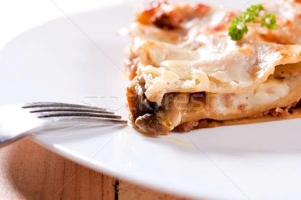 Cream pie Stock photo © badmanproduction