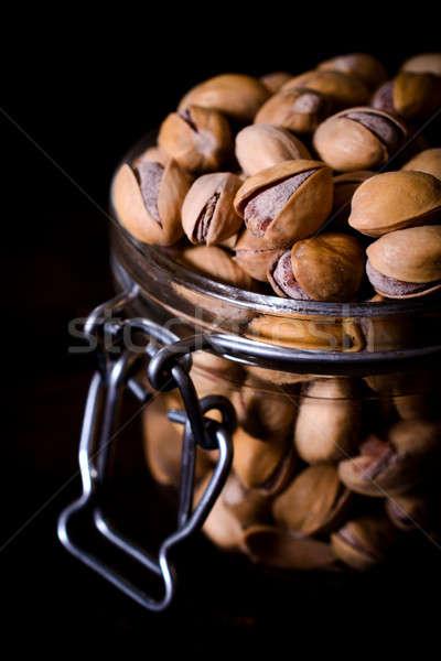 Jar grand groupe texture alimentaire nature santé Photo stock © badmanproduction