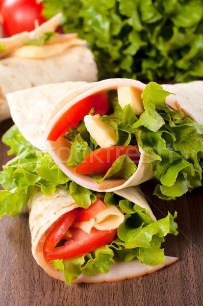 Turkey sandwich Stock photo © badmanproduction