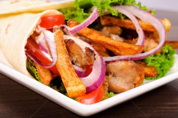 Tortilla sandwich Stock photo © badmanproduction