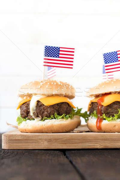 Burgers time Stock photo © badmanproduction