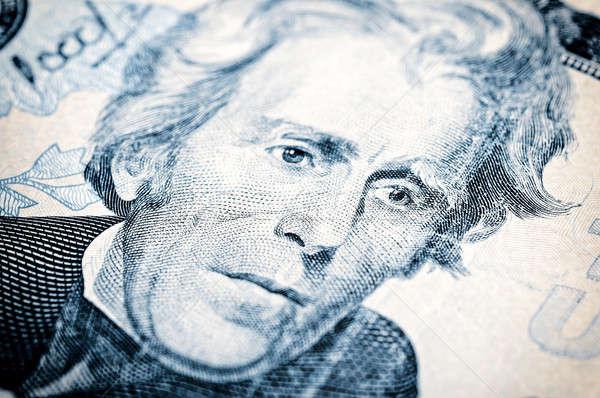 Portré húsz dollár számla üzlet papír Stock fotó © badmanproduction