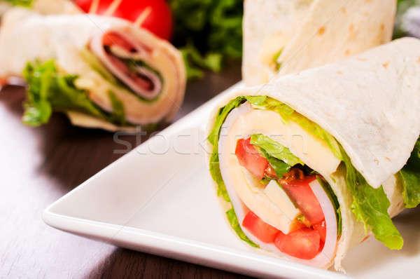 Sandwich wrap Stock photo © badmanproduction