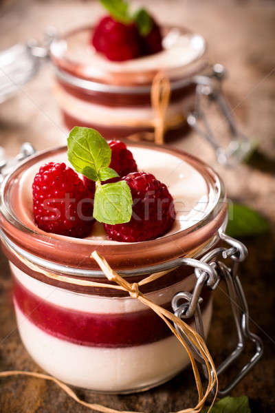 Sweet panna cotta Stock photo © badmanproduction