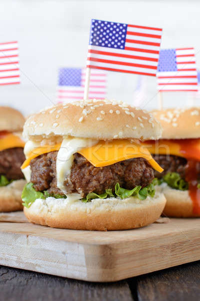 Tasty burger Stock photo © badmanproduction