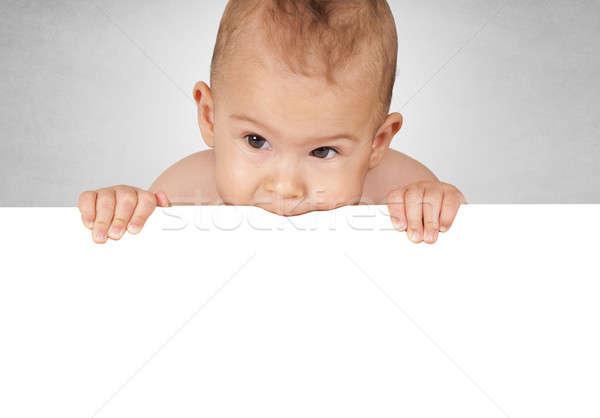 Baby bite Stock photo © badmanproduction
