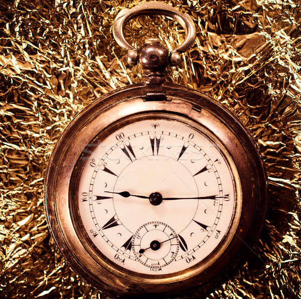 Old pocket watch Stock photo © badmanproduction