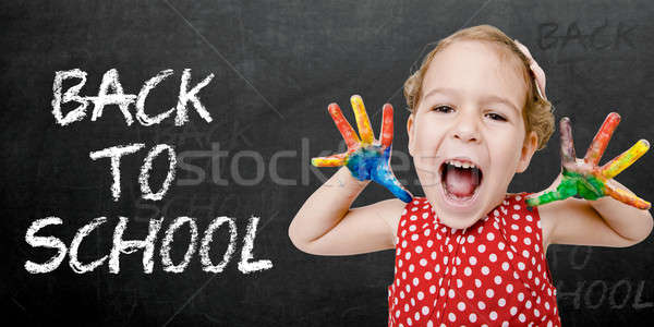 Happy child back to school Stock photo © badmanproduction