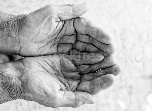 Old hands beg Stock photo © badmanproduction
