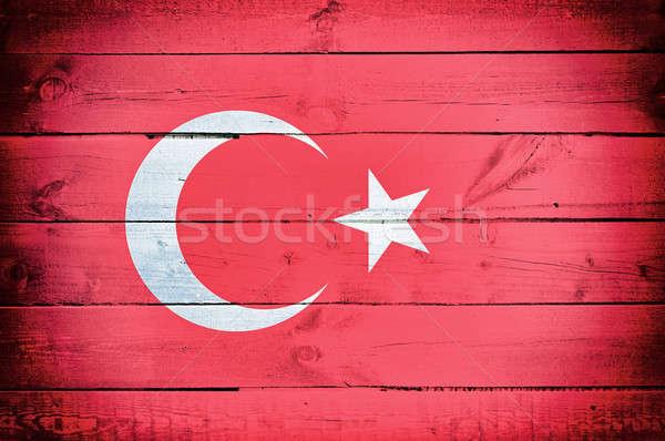 Turkey flag Stock photo © badmanproduction