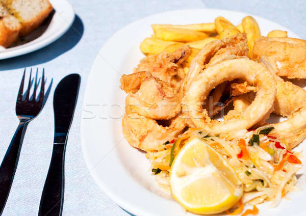 Calamari rings Stock photo © badmanproduction