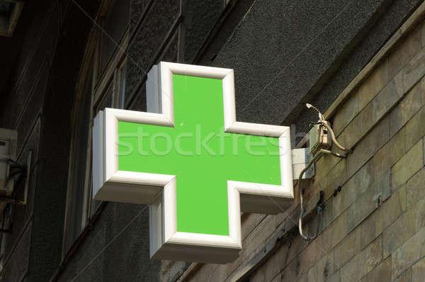 Farmácia assinar rua cidade médico projeto Foto stock © badmanproduction