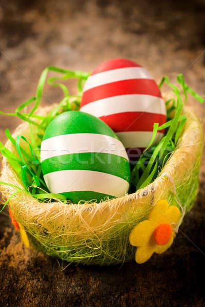 Decorated Eastern eggs Stock photo © badmanproduction