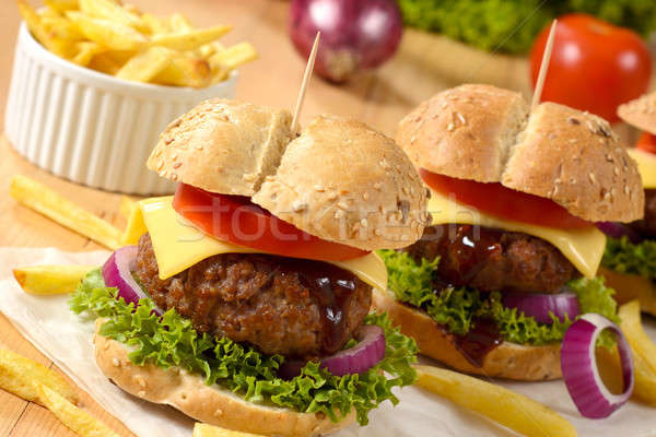 Beef burgers Stock photo © badmanproduction