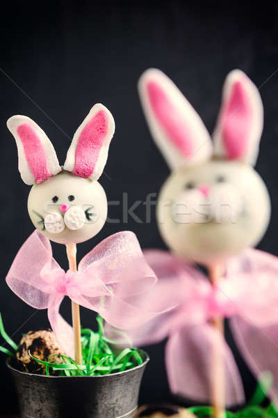 Easter bunny cake pops Stock photo © badmanproduction