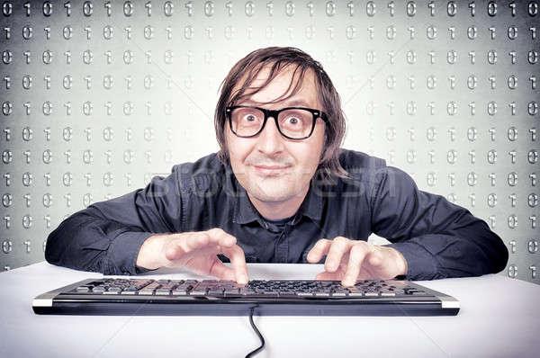 Funny hacker Stock photo © badmanproduction
