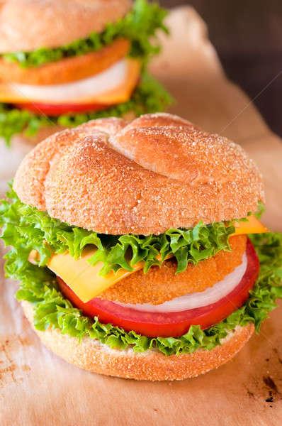 Fish burger Stock photo © badmanproduction