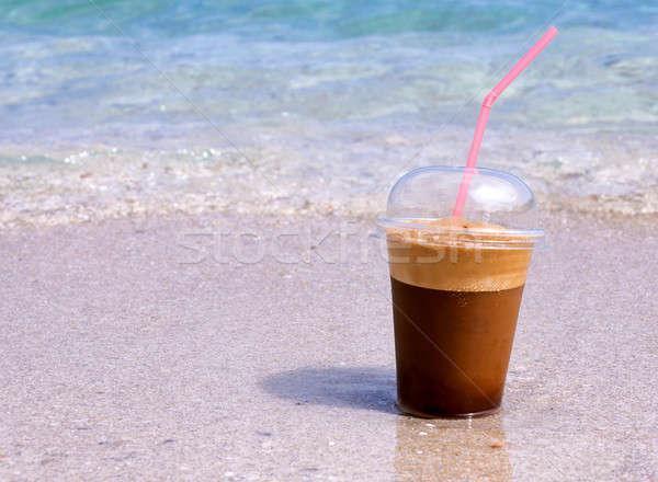 Beach coffee Stock photo © badmanproduction