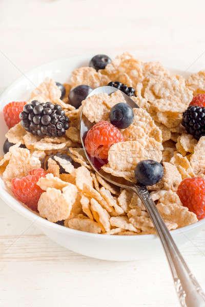 Meyve meyve meyve kahvaltı diyet Stok fotoğraf © badmanproduction