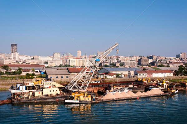 Belgrade vue ville Serbie eau mer Photo stock © badmanproduction