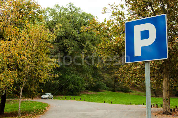 Stock photo: Parking space