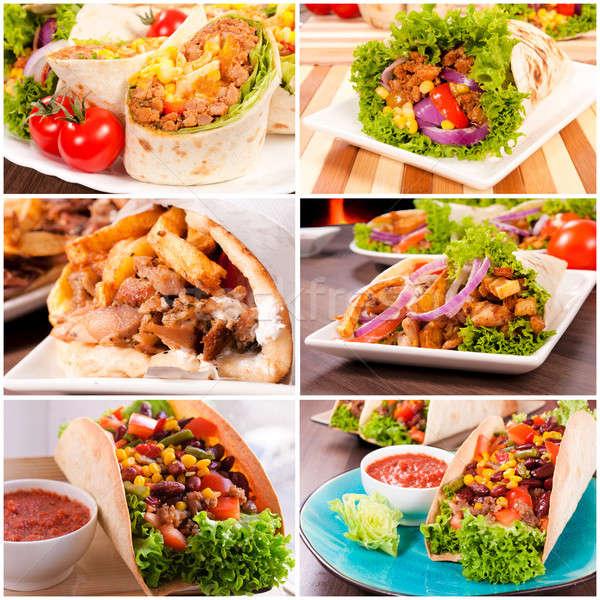 トルティーヤ 伝統的な ディナー 赤 トウモロコシ 調理 ストックフォト © badmanproduction
