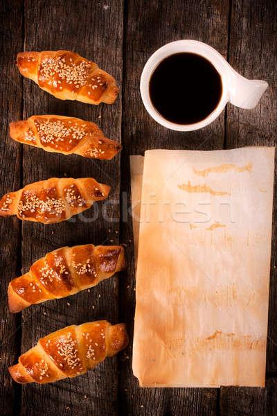 Comida tiempo frescos café negro edad Foto stock © badmanproduction