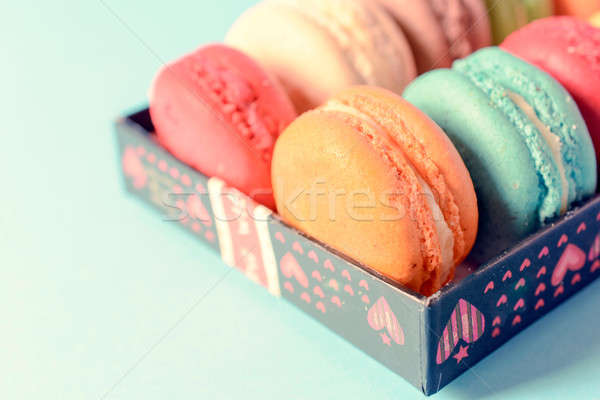 French macaroon cookies Stock photo © badmanproduction