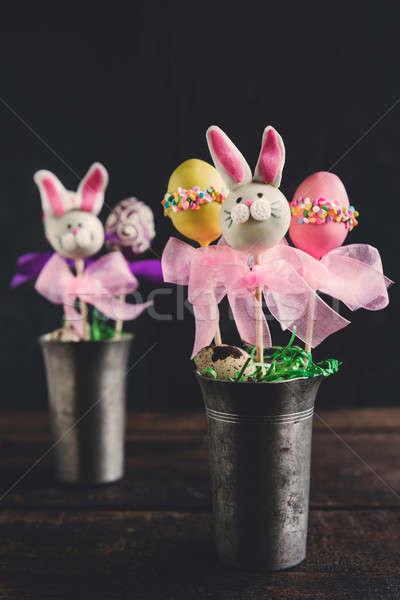 Easter cake pops Stock photo © badmanproduction