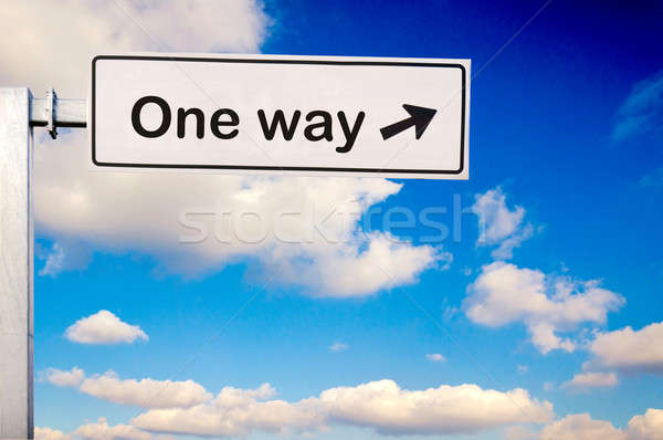 One way Stock photo © badmanproduction