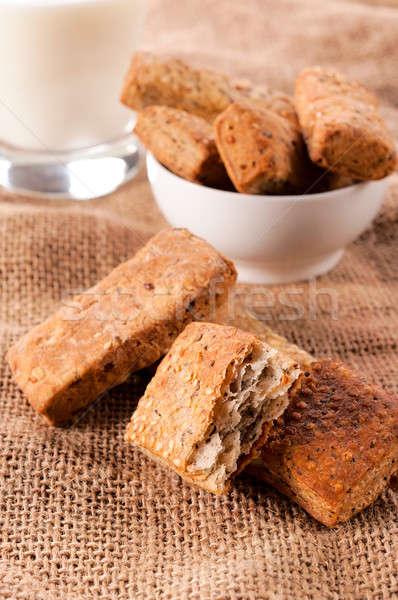 Whole grain pastry Stock photo © badmanproduction