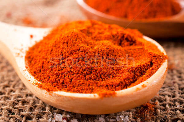 Rood Spice macro peper textuur Stockfoto © badmanproduction