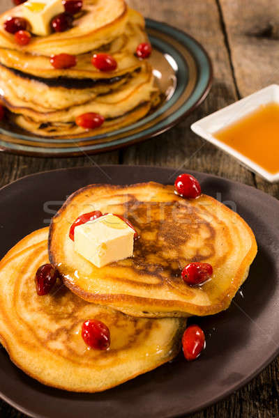 Honey and butter pancakes Stock photo © badmanproduction
