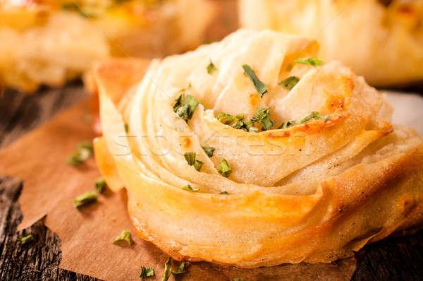 Eigengemaakt gebak kaas focus voedsel Stockfoto © badmanproduction