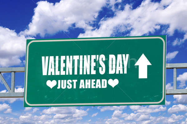 Valentine's day sign Stock photo © badmanproduction