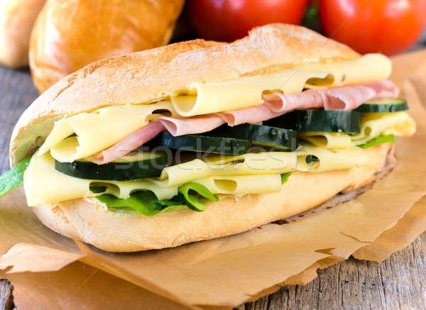 Сток-фото: сэндвич · фаршированный · весны · продовольствие · сыра