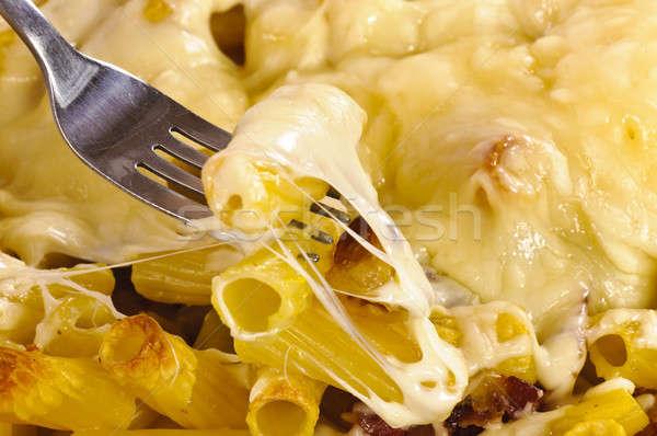 Nyami sajt makaróni szalonna étel háttér Stock fotó © badmanproduction
